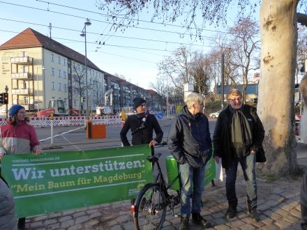 v.l. Madeleine Linke (grüne sachkundige Einwohnerin) und die Stadträte Tom Assmann, Olaf Meister und Jürgen Canehl