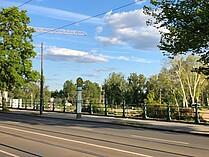"""Haltestelle """"Zollhaus"""" zwischen Zoll- und Anna-Ebert-Brücke"""